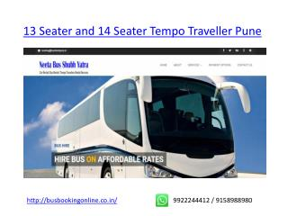 13 Seater Tourist Ac Non Ac Tempo Traveller Pune - 13 Seater