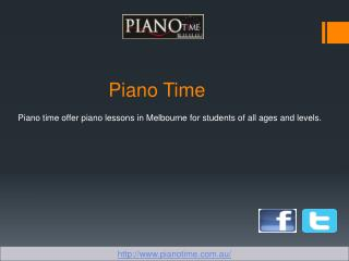 Piano Lesson Melbourne