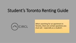 Student's Toronto Renting Guide