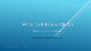 Wine Cooler Reviews