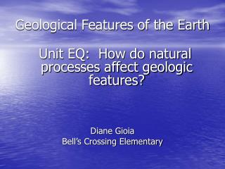 Geological Features of the Earth