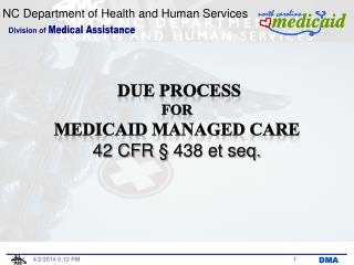DUE PROCESS for Medicaid Managed CARE 42 CFR § 438 et seq.