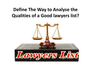 Lawyers List