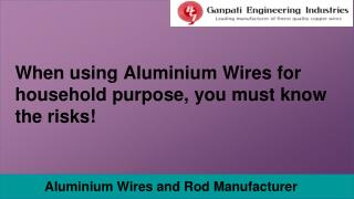 Aluminium Wire and Rod Supplier