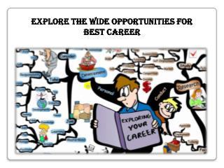 Explore the Wide Opportunities for Best Career