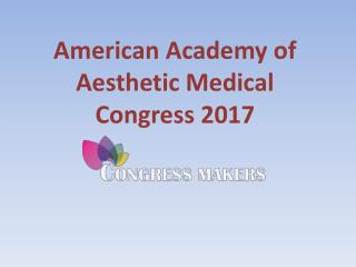 Reserve Online Your Hotel On AAAMED 2017 Conference