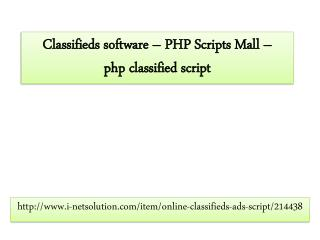 Classifieds Software - i-Netsolution - php classified script