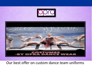 Find the best customized dance uniforms