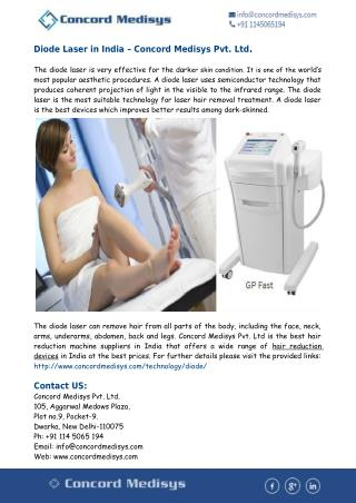 Diode Laser in India- Hair Removal Device in India