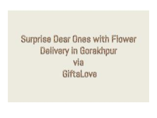 Surprise Dear Ones with Flower Delivery in Gorakhpur via GiftaLove