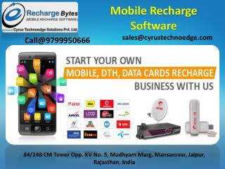 White lable Recahrge Software-Cyrus Recharge Solution
