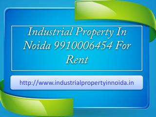 Industrial Property In Noida 9910006454 For Rent