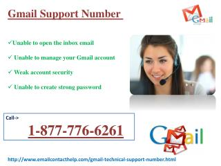E-mail Receiving Issues. Dial 1-877-776-6261 Gmail  Support Number