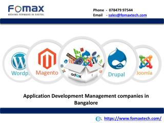 Application Development Management companies in Bangalore
