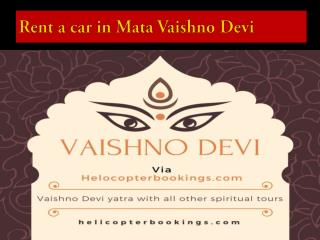 Car rental services in vaishno Devi