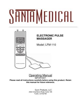 Santamedical Electronic Tens Unit Handheld Pulse Massager