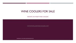 Wine Coolers For Sale