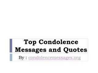 Best Deepest Short condolence message