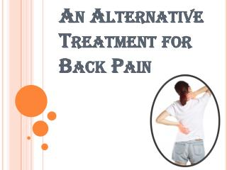 Chiropractors for Back Pain is an Alternative Treatment
