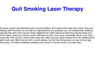 Quit Smoking Laser Therapy