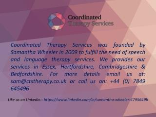 Private Occupational Therapy in the UK – Coordinated Therapy Services