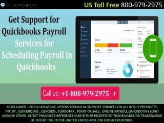 QuickBooks Payroll Support -  1-800-979-2975