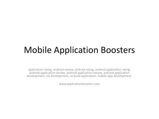 Application Booster