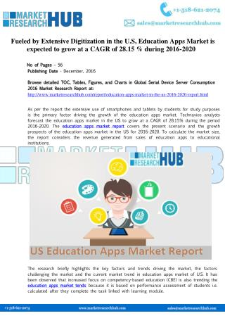 Education Apps Market Industry Report 2020
