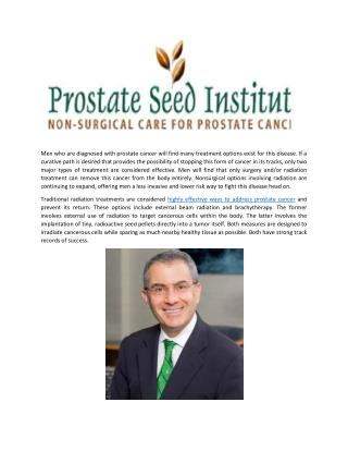 Precision Radiation Treatments Offer Non-Surgical Option for Prostate Cancer Treatment