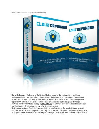 Cloud Defender review