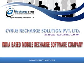 B2C Mobile Recharge Software