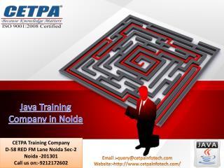 Java Training Company in Noida