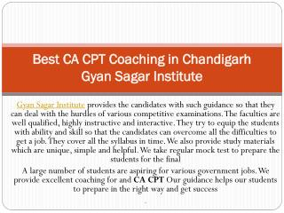 Best ca cpt coaching in Chandigarh|ca cpt coaching in Chandigarh