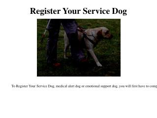 Service pet registration