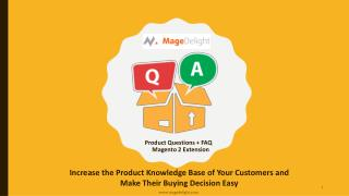 Magento 2 Product Questions & FAQ extension enable customers to Ask & Answer Questions
