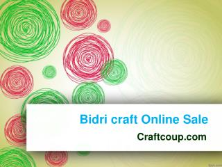 Online Handi Crafts in Hyderabad | Bidri Handicrafts | Bidri craft Online Sale
