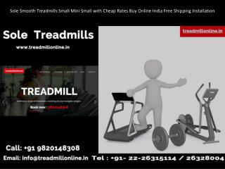 Sole Smooth Treadmills Small Mini Small with Cheap Rates Buy Online India Free Shipping Installation