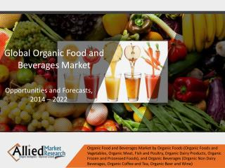 Organic Food and Beverages Market Expected to Reach $327,600 Million by 2022, Globally