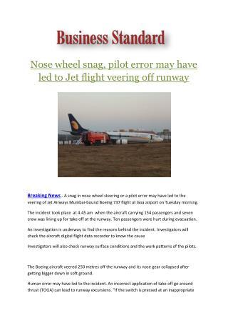 Ppt Mumbai Jaipur Jet Airways Flight Passengers Complain Of Nose