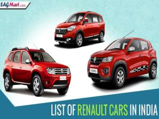 List of Renault Cars in India