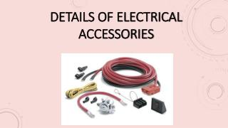Details Of Electrical Accessories