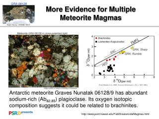 More Evidence for Multiple Meteorite Magmas