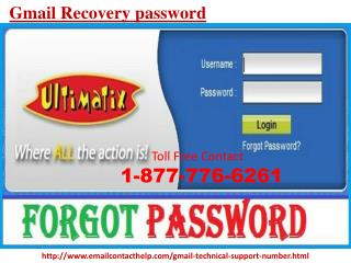 Dial Gmail Recovery password 1-877-776-6261 for Unmatched Help