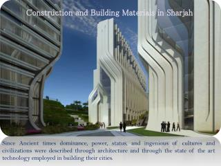 Construction and Building Materials in Sharjah