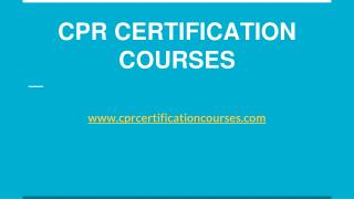 Online CPR Certification In New York