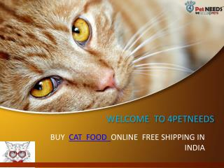 Buy online Cat Food Supplies in India-4Petneeds