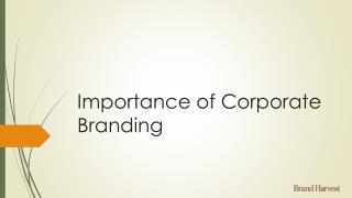 Importance of Corporate Branding