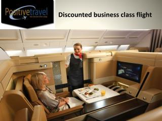 Discounted business class flight