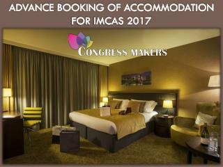 Advance Hotel Booking for IMCAS 2017 Paris