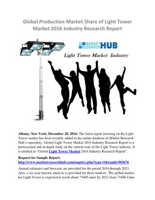 Global Production Market Share of Light Tower Market Report